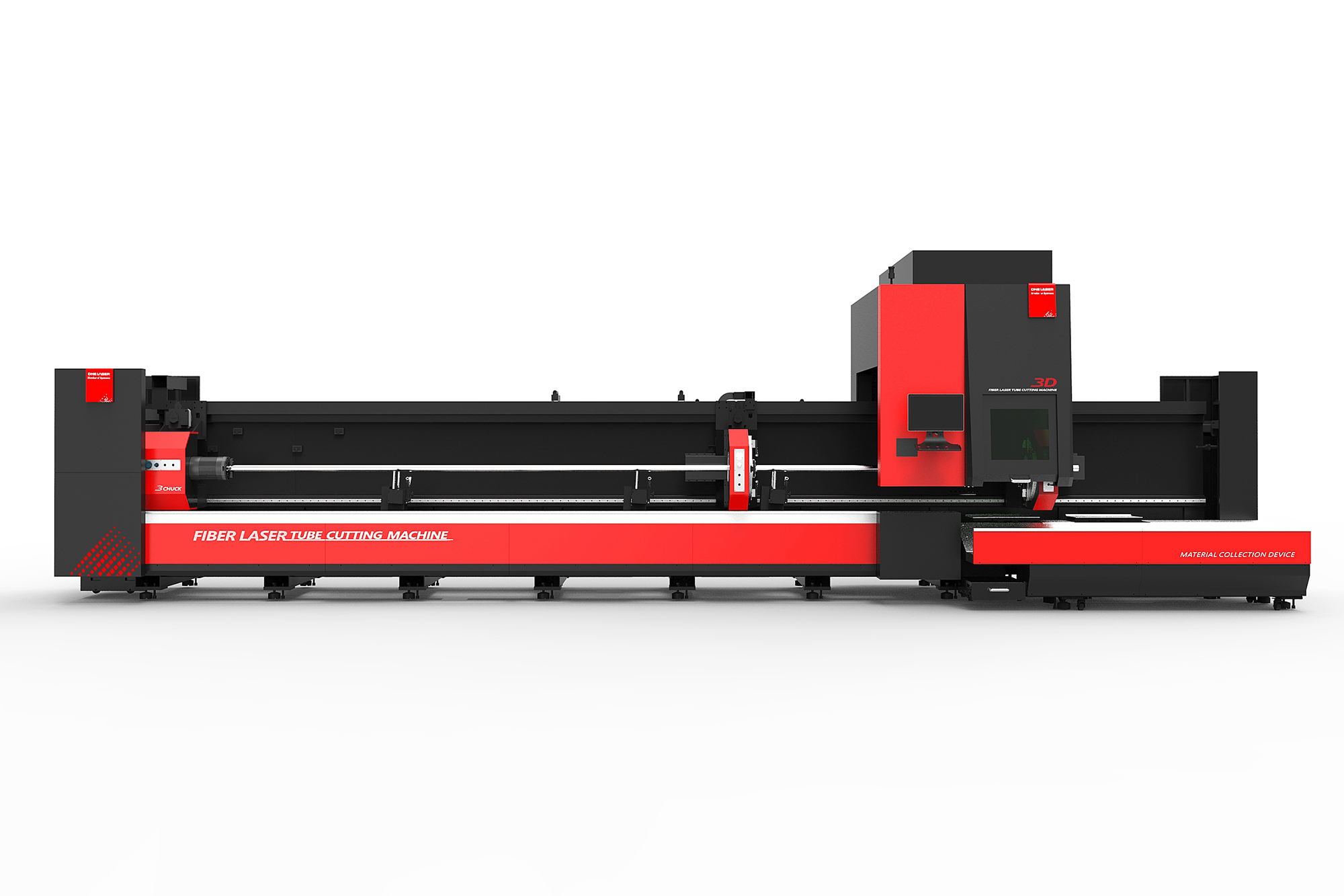 Fiber laser tube cutting machine is a product developed for the market of profile and tube cutting. It adopts the latest bus type CNC laser tube cutting system developed independentlyTo realize the control of pipe support device, chuck, etc. Can meet the carbon steel, stainless steel, aluminum and other materials such as round pipe, square pipe, U-groove, I-steel, shaped pipe profile cutting, opening, contour cutting, is a high degree of intelligent automation, high efficiency, cost-effective special pipe cutting equipment.