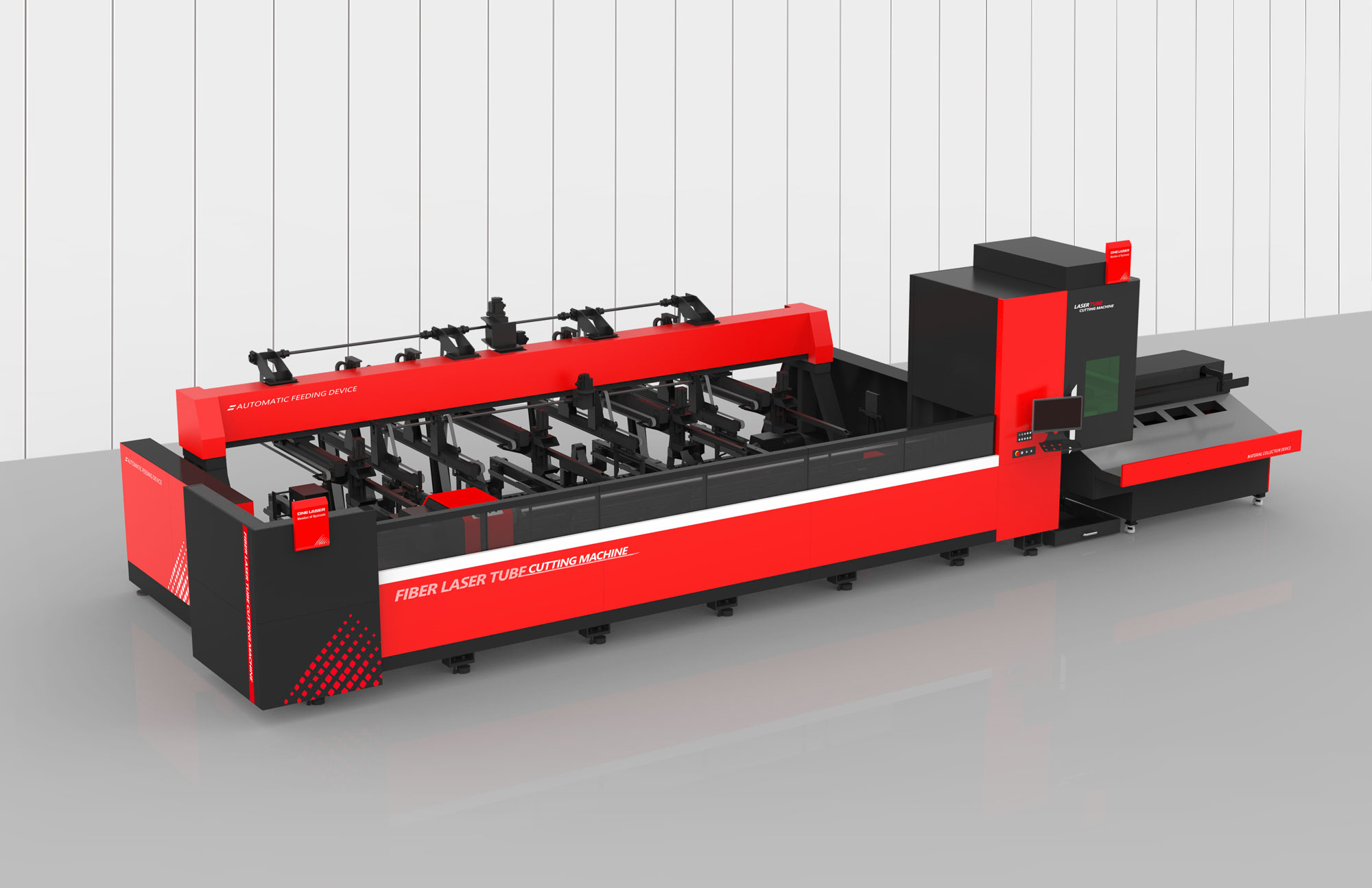 Tube Cutting Machine with semi-auto loading and unloading system